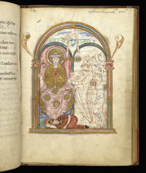 Eadui Presenting His Psalter To St. Benedict, In 'The Eadui Psalter'